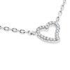 Billede af Classic by Pind halskæde m hjerte  sølv rhd syn.zir.,40+5cm
