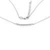 Billede af Classic by Pind halskæde sølv rhod m syn.zir.,40+5cm