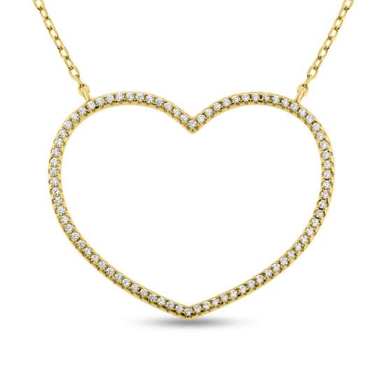 Billede af By Pind halskæde med hjerte sølvfg