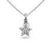 Billede af By Pind halskæde sølv rhodineret stjerne med zirkoniasten