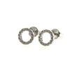Billede af Classic by Pind ørestikker cirkel 8mm  sølv rhod m syn.zir