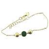 Billede af Classic by Pind armbånd sølv fg m. grøn agat 15+3cm