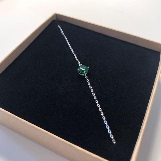 Billede af By Pind armbånd sølv med grøn zirkoniasten