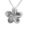Billede af By Pind halskæde sølv rhodineret sandblæst blomst