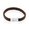 Billede af Men by Pind armbånd  lysebrunt læder stål lås (19-24cm)