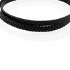 Billede af Men by Pind armbånd sort læder mat stål lås (18-24 cm)