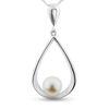 Billede af By Pind halskæde sølv vedhæng dråbeformet med perle