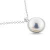 Billede af By Pind halskæde sølv med med ferskvandsperle