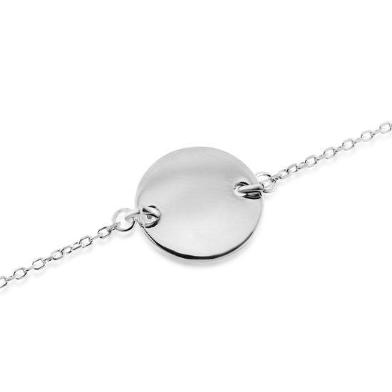Billede af By Pind armbånd sølv cirkelplade