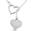 Billede af By Pind halskæde sølv med åbent og lukket hjerte
