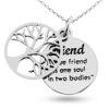 Billede af By Pind halskæde sølv Friend tree of Life (40, 45 eller 50 cm)