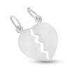 Billede af By Pind vedhæng sølv knækket hjerte