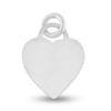 Billede af By Pind vedhæng sølv hjerte flad