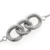 Billede af *By Pind armbånd  sølv rhod. med 3 ringe.med syn.zir.kæde rund anker længde 17+2