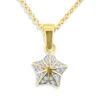 Billede af *By Pind halskæde sølv forgyldt stjerne med zirkoniasten