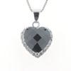 Billede af Classic by Pind Vedhæng sølv rhd m. hjerte sort zir. og klar syn. zir.