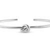 Billede af By Pind armring sølv åben kraftig med knude