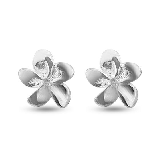 Billede af By Pind øreringe sølv blomst