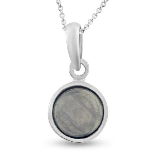 Billede af By Pind halskæde sølv med rosakvarts (40, 45 eller 50cm)