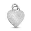Billede af By Pind vedhæng frostet hjerte sølv