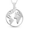 Billede af By Pind halskæde sølv 'Around the World' (50 cm)