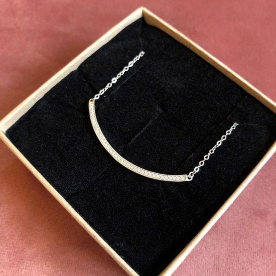 Billede af By Pind halskæde sølv rhodineret med zirkoniasten (39+4 cm)