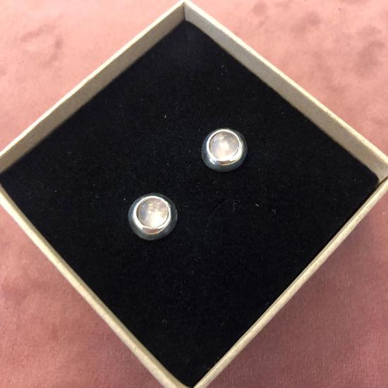 Billede af By Pind ørestikker sølv med rosakvarts