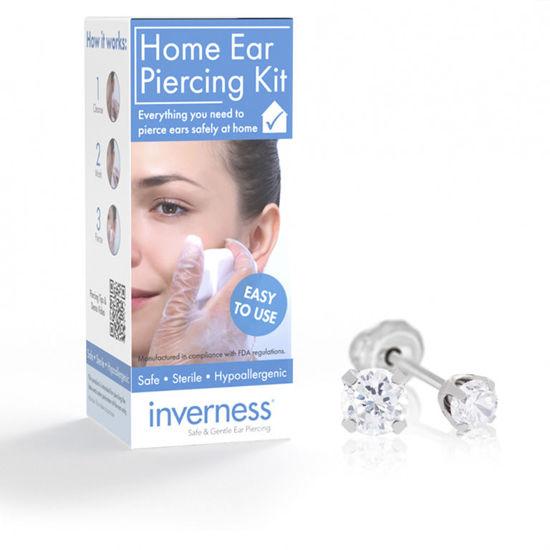 Billede af Inverness Home Ear Piercing Kit - Lav selv hul i ørene (komplet sæt kugle 3 mm zirkonia)