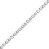Billede af By Pind tennisarmbånd sølv rhodineret med zirkoniasten (18+3 cm) med karabinlås