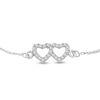 Billede af By Pind halskæde sølv rhodineret med dobbelthjerte vedhæng zirkoniasten (42,5+3 cm)