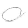 Billede af By Pind tennisarmbånd sølv rhodineret med baquette slebet zirkoniasten (16+3 cm) med karabinlås