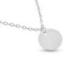 Billede af By Pind halskæde sølv rhodineret med rund plade vedhæng (42 cm)