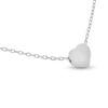 Billede af By Pind halskæde sølv rhodineret med hjerte vedhæng (43+3cm)