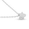 Billede af By Pind halskæde sølv rhodineret med stjerne vedhæng (45 cm)