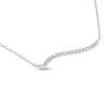 Billede af By Pind halskæde sølv rhodineret med zirkonia sten (39-43 cm)