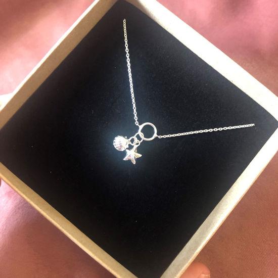 Billede af By Pind ankelkæde sølv med stjerne og musling