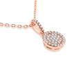 Billede af By Pind halskæde sølv rosaforgyldt med vedhæng cirkel med zirkonia (40+5cm)