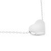 Billede af By Pind halskæde sølv rhodineret med hjerte vedhæng (42+3cm)