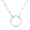 Billede af By Pind halskæde sølv rhodineret cirkel vedhæng (42+3cm)