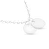 Billede af By Pind halskæde sølv rhodineret med 2 runde plader (42 cm)