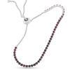 Billede af By Pind tennisarmbånd sølv rhodineret med røde zirkoniasten