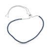 Billede af By Pind tennisarmbånd sølv rhodineret med blå zirkoniasten