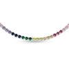 """Billede af By Pind halskæde sølv rhodineret """"Rainbow"""" farvede zirkoniasten (32-60cm)"""