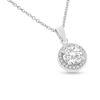Billede af By Pind halskæde sølv rhodineret med zirkonia sten med kæde (40, 45 eller 50 cm)