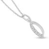 Billede af By Pind halskæde sølv rhodineret med zirkoniasten
