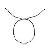Billede af Classic by Pind armbånd sort knyttet m sølv og hvid labradorit og sort spinel