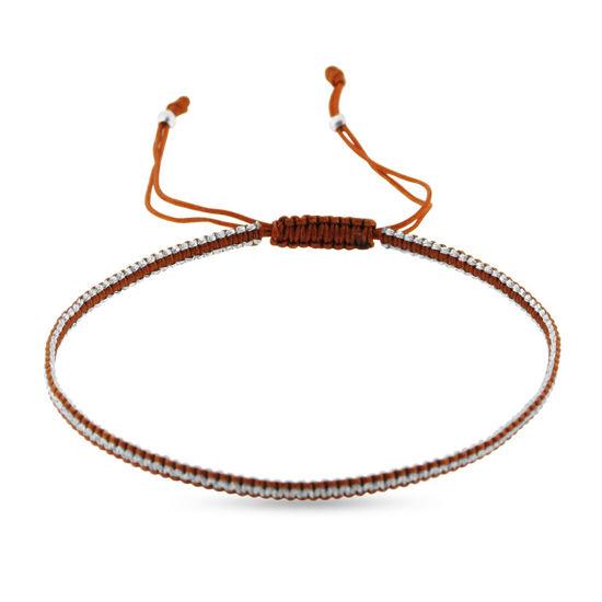 Billede af By Pind Colorful knyttet armbånd rust og sølvfarvet med sølv kugler