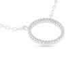 Billede af By Pind halskæde sølv rhodineret cirkel 13mm zirkoniasten (40+5cm)