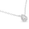 Billede af By Pind sølv rhodineret halskæde med dråbe med zirkonia sten (40+5cm)
