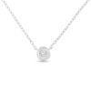 Billede af By Pind halskæde sølv rhodineret med vedhæng med zirkonia sten (40+5 cm)